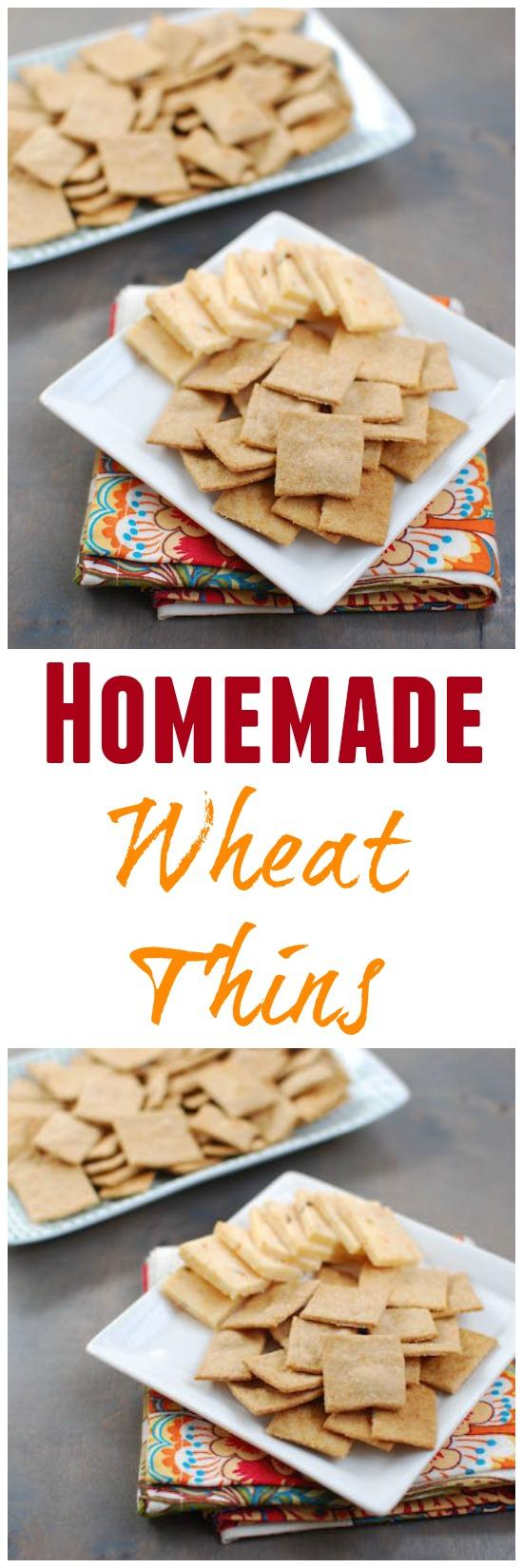 These easy, homemade Wheat Thins taste even better than store bought!