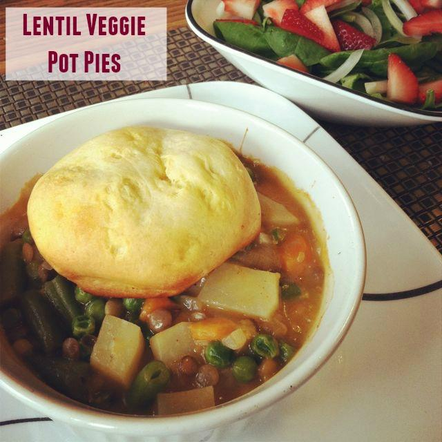 These Vegetarian Lentil Veggie Pot Pies are healthier and more flavorful than the ones you remember from your childhood!