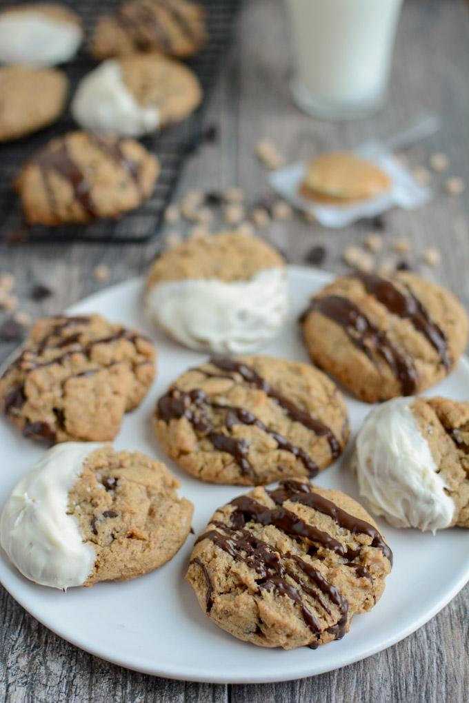 Toffee Peanut Butter Chocolate Chip Cookies