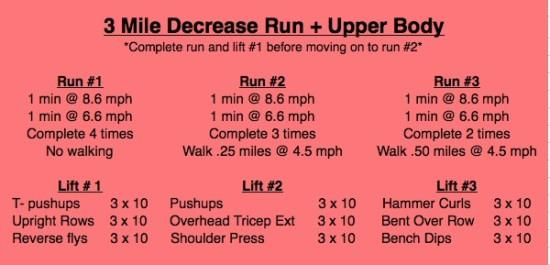 Run & Upper Body Workout