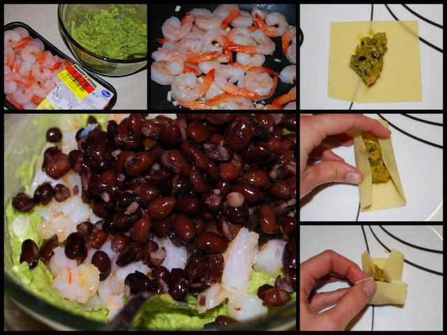 rollups Black Bean, Shrimp & Avocado Rollups