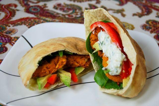 This Sweet Potato Falafel makes a great vegetarian lunch! Enjoy it in a pita or on a salad!