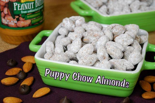 A healthier alternative to your favorite childhood snack- try these Puppy Chow Almonds!