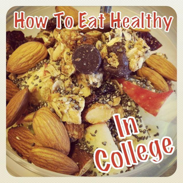 Wondering how to eat healthy in college? Here are some tips, tricks and recipes for eating healthy in a college dorm.