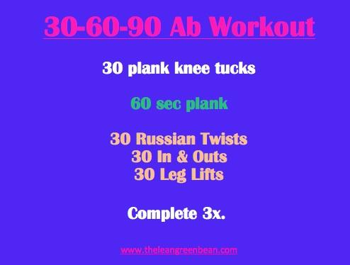 30-60-90 Abs Workout