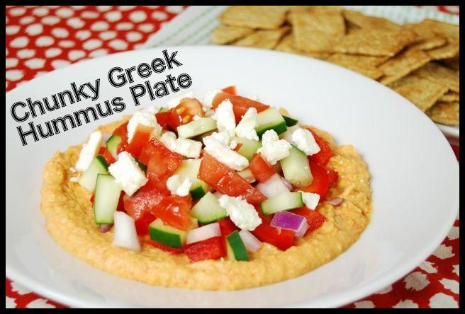 hummus2 Chunky Greek Hummus Plate
