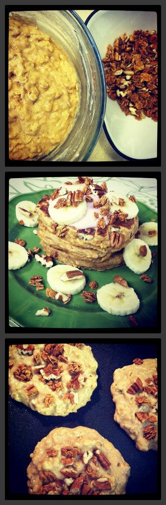 pancake1 Whole Wheat Banana Crunch Pancakes