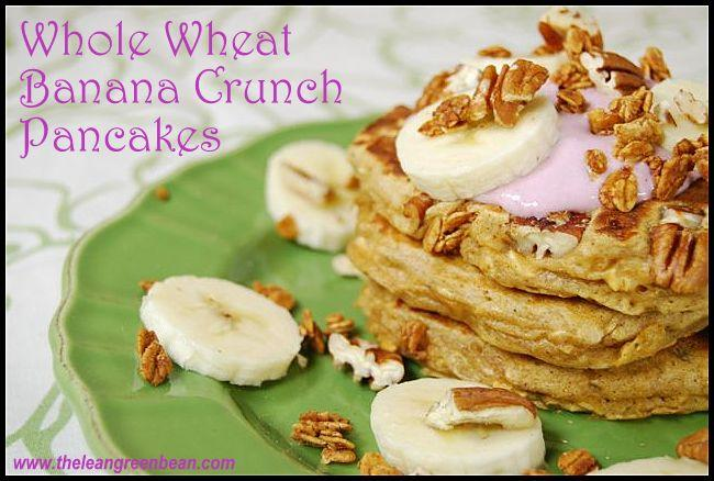 pancake2 Whole Wheat Banana Crunch Pancakes