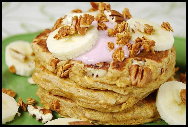pancake5 Whole Wheat Banana Crunch Pancakes