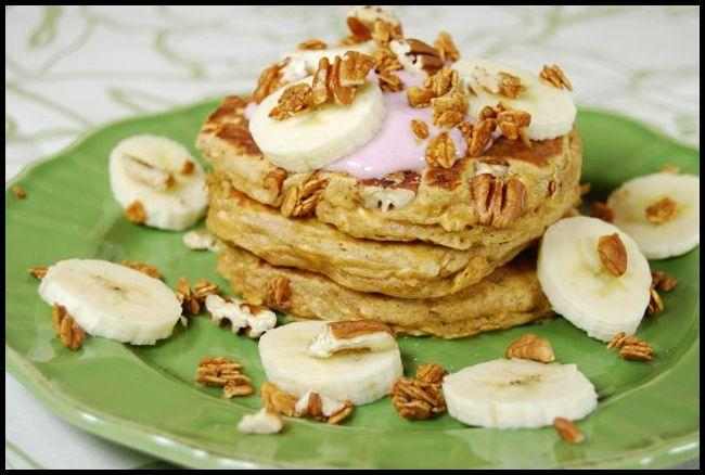pancake7 Whole Wheat Banana Crunch Pancakes