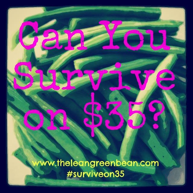 survive21 #surviveon35: Menu Planning & Grocery Shopping