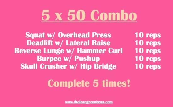 5x50 Combo Dumbell Workout
