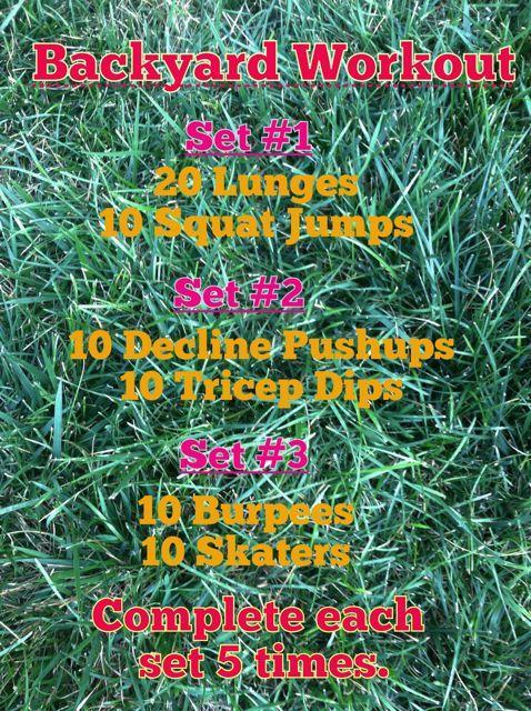 Backyard Cardio Workout