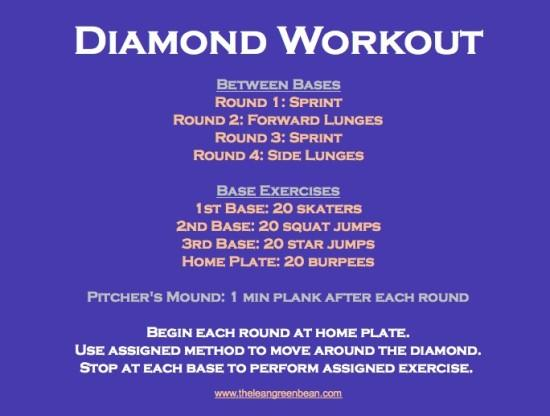 Baseball Diamond Cardio Workout
