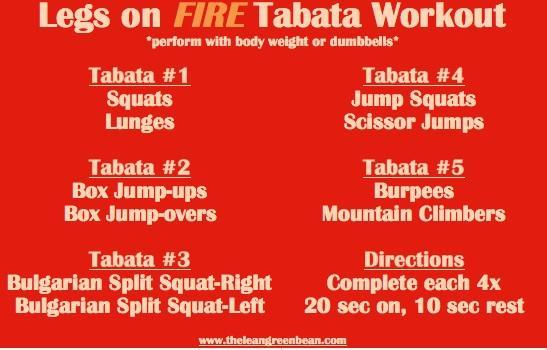 Tabata Cardio Leg Workout