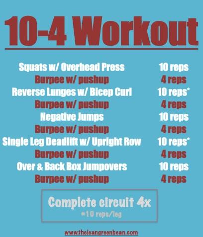 10-4 Cardio Workout