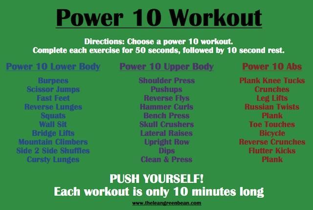 Power 10 Cardio Workout