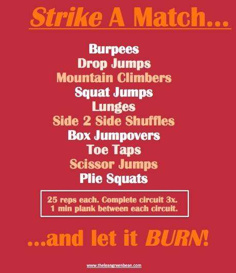 Strike A Match Cardio Burn Workout