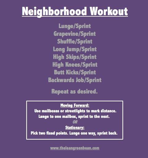 Neighborhood Cardio Workout