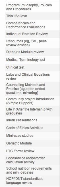 orientation Dietetic Internship: Orientation & Week 1