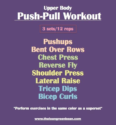 Push Pull Dumbbell Workout