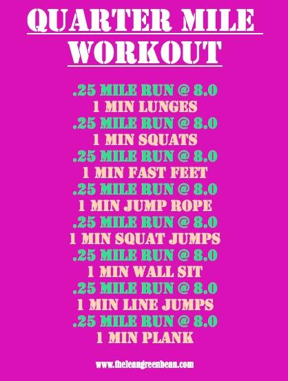 Quarter Mile Treadmill Workout