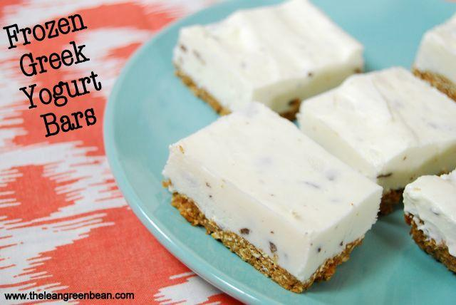 yogurt2 Frozen Greek Yogurt Bars