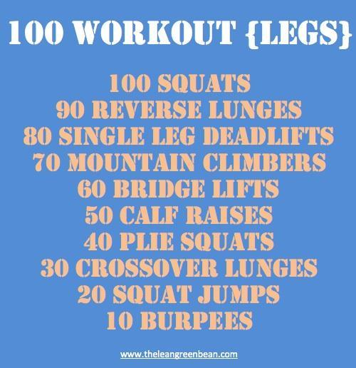 Legs 100 Workout - Cardio