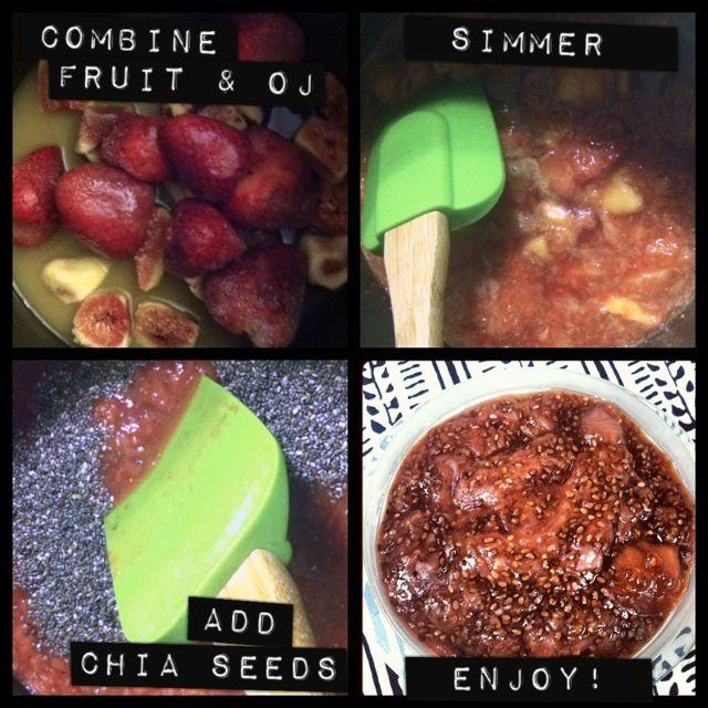 Learn how to make chia jam. Try this strawberry fig flavor combo!