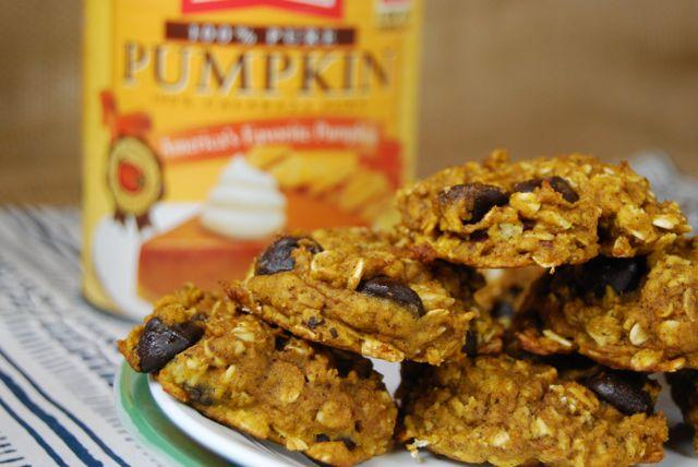 These Pumpkin Oatmeal Cookies taste like fall in dessert form.