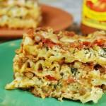 Crockpot Lentil Vegetable Lasagna