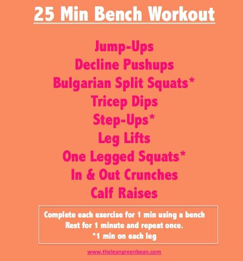 25 Minute Bench Cardio Workout