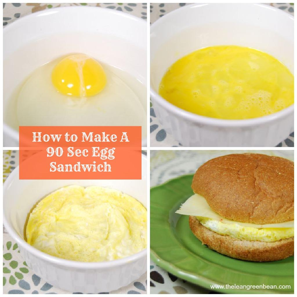 Got 90 seconds? You have time to make yourself a breakfast sandwich in the microwave!