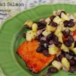 Teriyaki Salmon with Pineapple Black Bean Salsa
