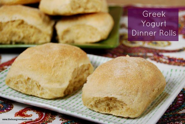 These healthy dinner rolls are made with Greek yogurt and make the perfect dinner side dish.