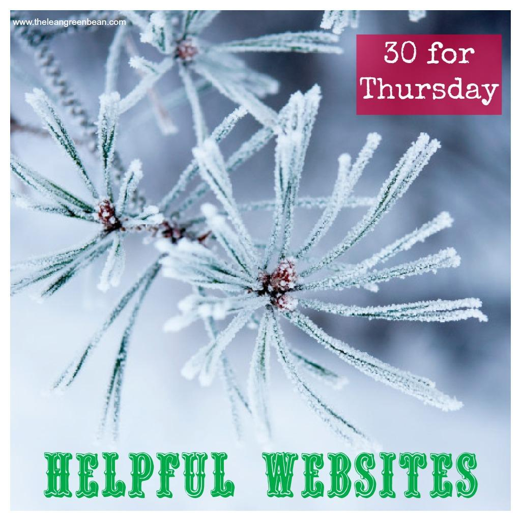 helpful websites Thirty for Thursday: 30 Helpful Websites