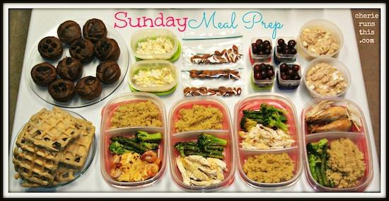 Sunday mealprep   Cherie Runs This 2 17 13 number1 Sunday Food Prep Inspiration 2
