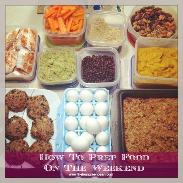 Make the best of your Sunday by prepping healthy food for the week ahead. It makes it easier to eat healthy during the week!