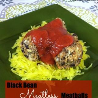 Black Bean Meatless Meatballs