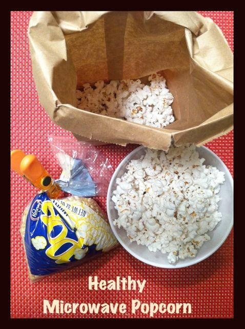 Did you know popcorn is a whole grain? This easy microwave popcorn makes a nutritious and healthy snack.