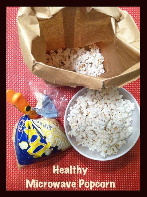 healthy microwave popcorn Healthy Microwave Popcorn