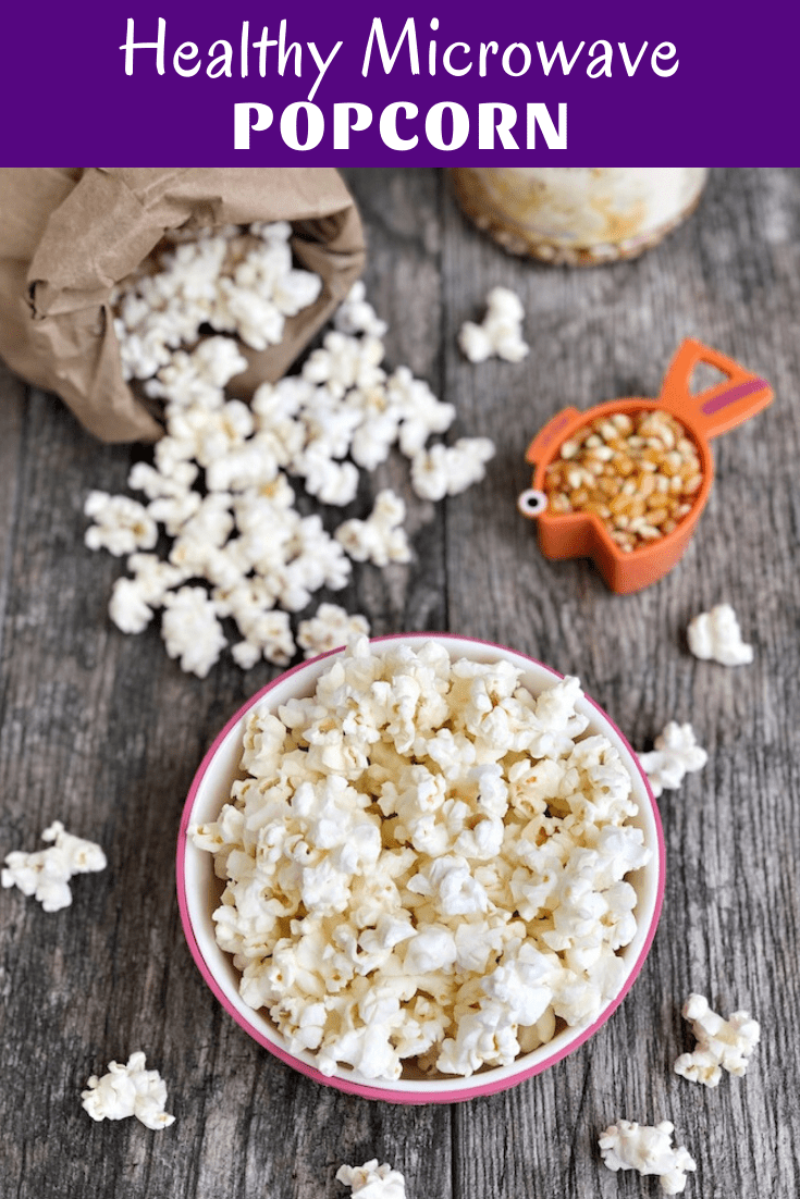 Make healthy microwave popcorn with just popcorn kernels and a paper lunch sack. Makes a great whole-grain snack for older kids and adults and you can flavor it any way you want to!
