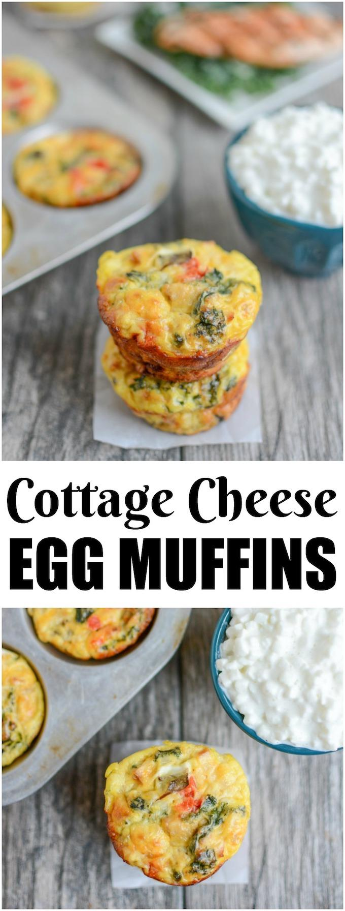 These Cottage Cheese Egg Muffins are a high-protein breakfast option that can be prepped ahead of time and eaten on the run! They're a fun change from traditional egg cups!
