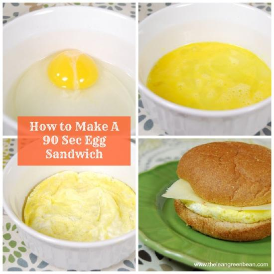 90 sec egg sandwich