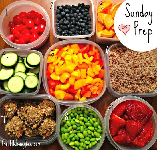 Sunday Prep Collage1 Sunday Food Prep Inspiration 21
