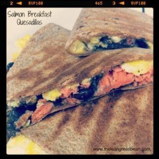 Salmon Breakfast Quesadillas