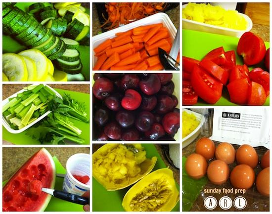 sunday food prep collage