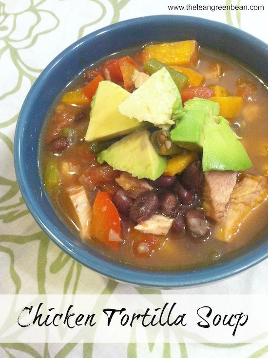 This Chicken Tortilla Soup is packed with veggies, beans and chicken and makes a healthy, flavorful lunch or dinner option.
