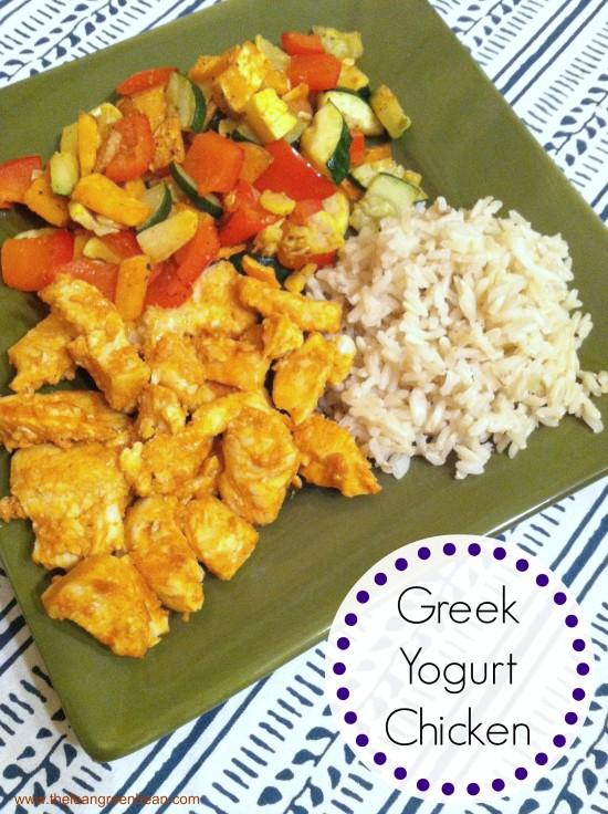 A Greek Yogurt Marinade helps add flavor and moisture to your chicken. Try it for a quick weeknight dinner!