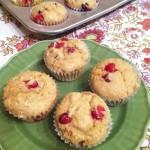 Cranberry Whole Wheat Muffins
